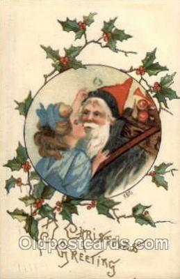 hol001814 - Artist HBG Santa Claus, Christmas, Postcard Postcards