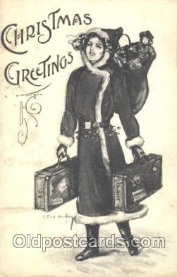 hol001947 - Artist R Ford Harper, Christmas Santa Claus Postcard Postcards
