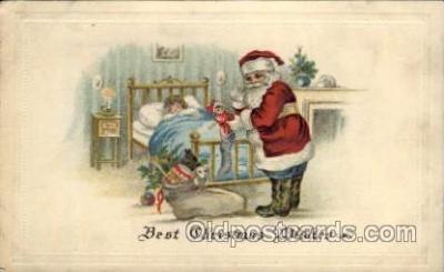 hol002126 - Christmas Santa Claus Postcard Postcards