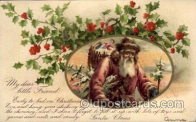 hol002138 - Christmas Santa Claus Postcard Postcards