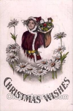 hol002197 - Christmas Santa Claus Postcard Postcards