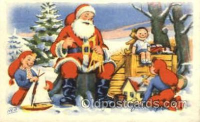 hol002233 - Christmas, Santa Claus Postcard Postcards