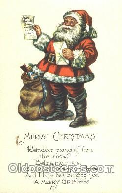 hol002252 - Santa Claus, Christmas, Postcard Postcards
