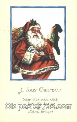 hol002317 - Santa Claus, Christmas, Postcard Postcards