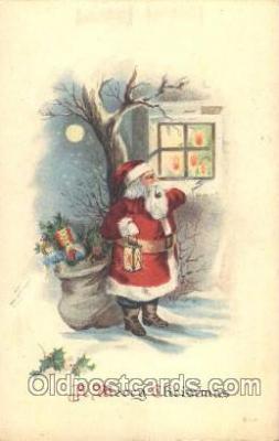 hol002329 - Santa Claus Christmas Postcard Postcards