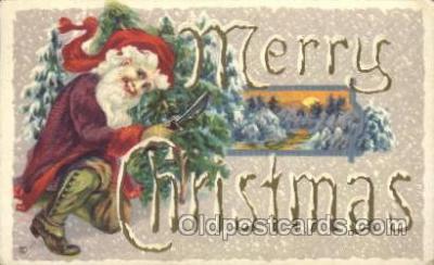 hol002361 - Santa Claus Christmas Postcard Postcards