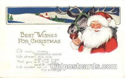 hol002370 - Santa Claus Christmas Postcard Postcards