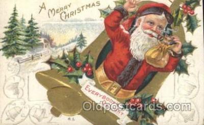 hol002375 - Santa Claus Christmas Postcard Postcards