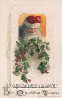 hol002503 - Christmas, Santa Claus Winch Folder Postcard Postcards