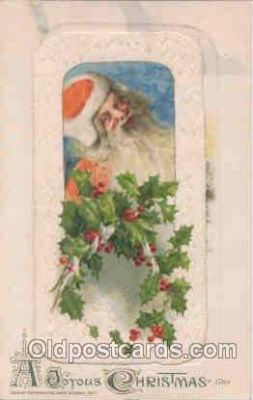 hol002504 - Christmas, Santa Claus Winch Folder Postcard Postcards