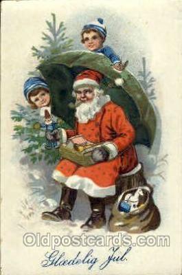 hol002521 - Santa Claus Christmas Postcard Postcards