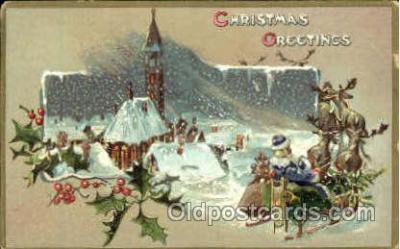 hol002582 - Santa Claus Christmas Postcard Postcards