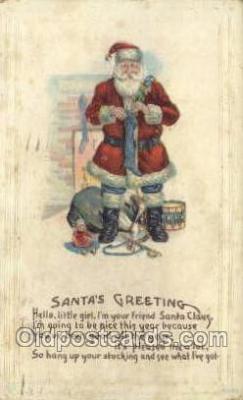 hol002871 - Santa Claus Holiday Christmas Post Cards Postcard