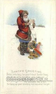 hol002874 - Santa Claus Holiday Christmas Post Cards Postcard