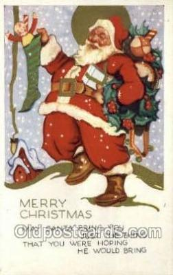 hol002904 - Santa Claus Holiday Christmas Post Cards Postcard