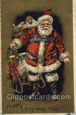 hol002906 - Santa Claus Holiday Christmas Post Cards Postcard