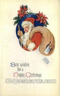 hol002916 - Santa Claus Holiday Christmas Post Cards Postcard
