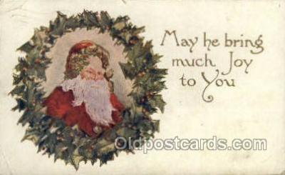 hol002939 - Santa Claus, Christmas, Old Vintage Antique Postcard Post Card