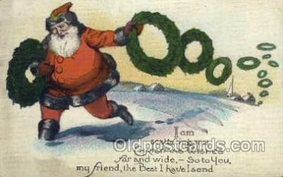 hol002947 - Santa Claus, Christmas, Old Vintage Antique Postcard Post Card
