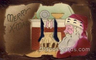 hol002955 - Santa Claus, Christmas, Old Vintage Antique Postcard Post Card