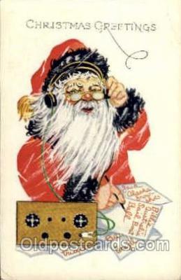 hol003057 - Christmas Santa Claus Postcard Postcards