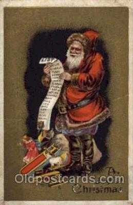 hol003078 - Christmas Santa Claus Postcard Postcards