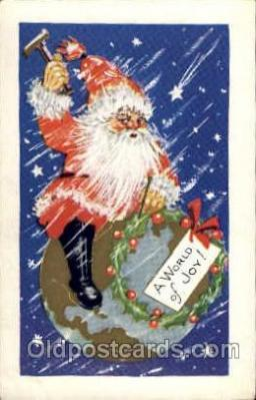 hol003118 - Christmas Santa Claus Postcard Postcards