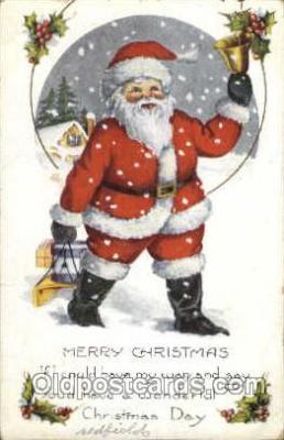 hol003132 - Christmas Santa Claus Postcard Postcards
