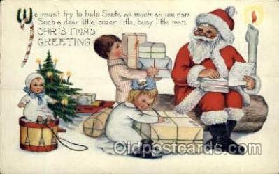 hol003156 - Christmas Santa Claus Postcard Postcards