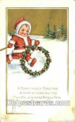 hol003216 - Christmas, Santa Claus Postcard Post card