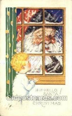 hol003223 - Christmas, Santa Claus Postcard Post card