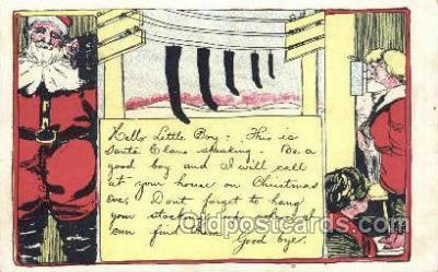 hol003249 - Christmas, Santa Claus Postcard Post card