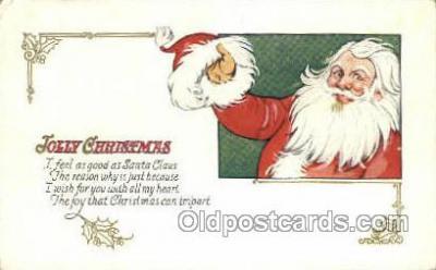 hol003259 - Christmas, Santa Claus Postcard Post card