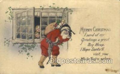 hol003279 - Christmas, Santa Claus Postcard Post card