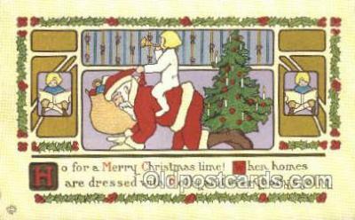 hol003280 - Christmas, Santa Claus Postcard Post card