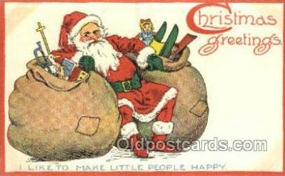 hol003292 - Christmas, Santa Claus Postcard Post card