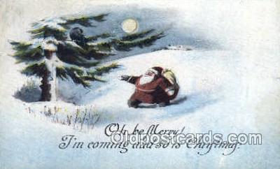 hol003301 - Christmas, Santa Claus Postcard Post card