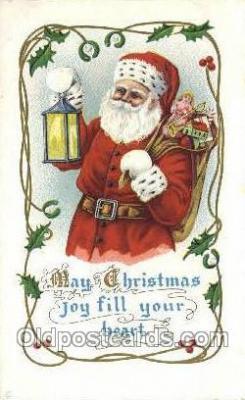 hol003327 - Christmas, Santa Claus Postcard Post card