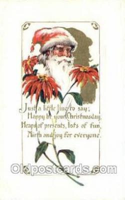 hol003338 - Christmas, Santa Claus Postcard Post card