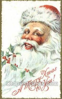 hol003355 - Christmas, Santa Claus Postcard Post card