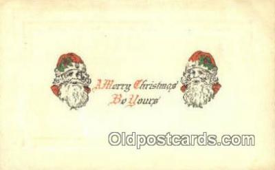 hol003406 - Santa Claus Postcard, Chirstmas Post Card Old Vintage Antique Carte, Postal Postal