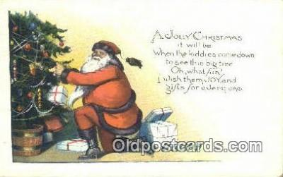 hol003427 - Santa Claus Postcard, Chirstmas Post Card Old Vintage Antique Carte, Postal Postal