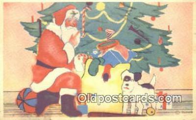 hol003446 - Santa Claus Postcard, Chirstmas Post Card Old Vintage Antique Carte, Postal Postal