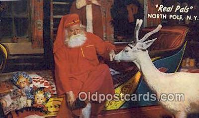 hol003457 - North Pole New York, USA Santa Claus Postcard, Chirstmas Post Card Old Vintage Antique Carte, Postal Postal