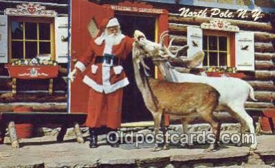 hol003459 - North Pole New York, USA Santa Claus Postcard, Chirstmas Post Card Old Vintage Antique Carte, Postal Postal