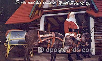 hol003474 - North Pole New York, USA Santa Claus Postcard, Chirstmas Post Card Old Vintage Antique Carte, Postal Postal