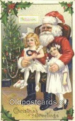 hol003494 - Santa Claus Postcard, Chirstmas Post Card Old Vintage Antique Carte, Postal Postal