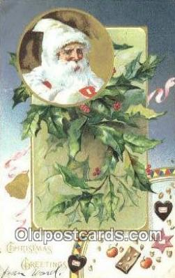 hol003508 - Santa Claus Postcard, Chirstmas Post Card Old Vintage Antique Carte, Postal Postal
