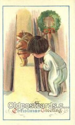 hol003522 - Santa Claus Postcard, Chirstmas Post Card Old Vintage Antique Carte, Postal Postal