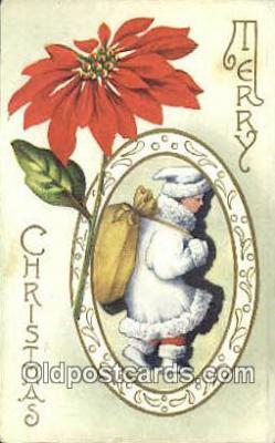 hol003529 - Santa Claus Postcard, Chirstmas Post Card Old Vintage Antique Carte, Postal Postal